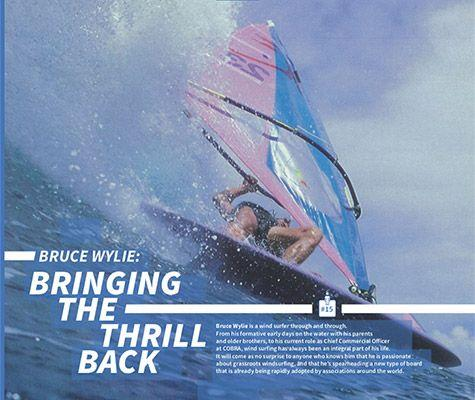 THE LATEST EXTRACT FROM OUR 40 YEAR BOOK INTERVIEWS BRUCE WYLIE, CHIEF COMMERCIAL OFFICER OF COBRA