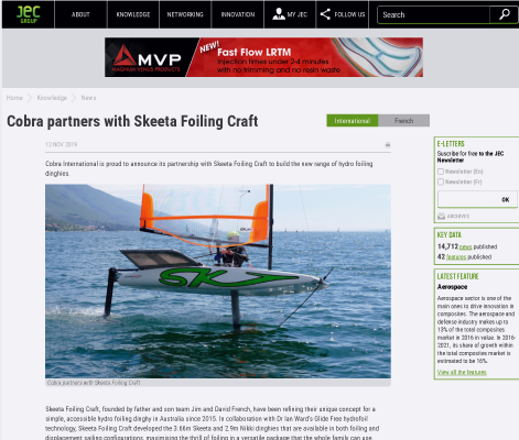 Cobra partners with Skeeta Foiling Craft