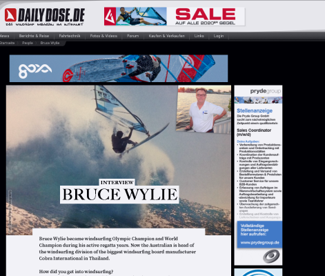 Interview Bruce Wylie. Olympic and World Champion and Head of WaterSports at COBRA